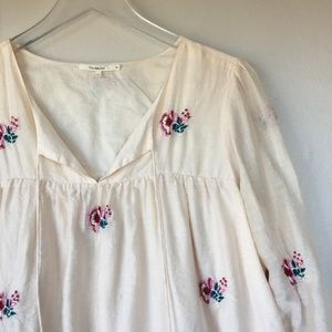 TULAROSA Blythe Embroidered Floral Tunic Dress S